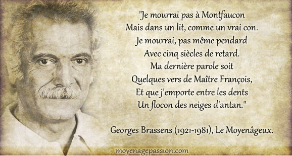 citation-monde-medieval-georges-brassens-francois-villon