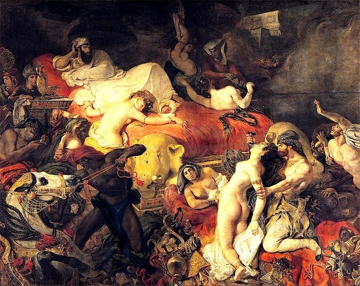La mort de Sardanapale par Delacroix (1827)