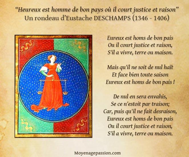 eustache-deschamps-poesie-medievale-rondeau-justice-raison-moyen-age