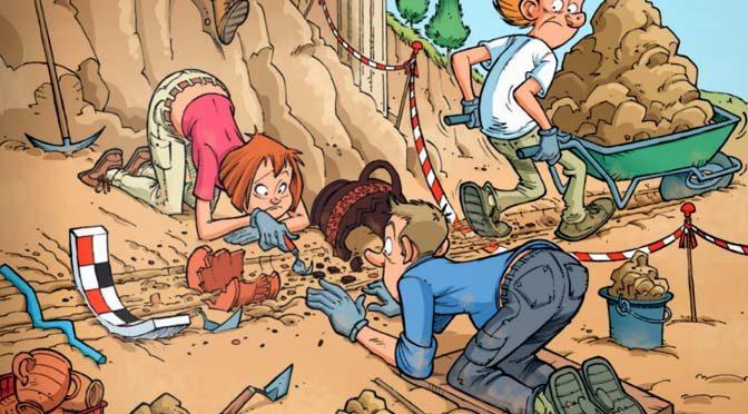 une BD Sur le métier d'archéologue et quelques réflexions entre HISTOIRE & archeologie