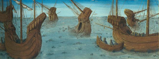 L'attribut alt de cette image est vide, son nom de fichier est manuscrit-navigation-medieval-francais-364-Bataille-entre-romains-et-carthaginois-s.jpg.